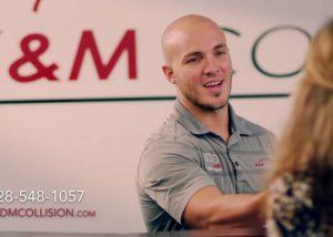 k&m collision tv commercial