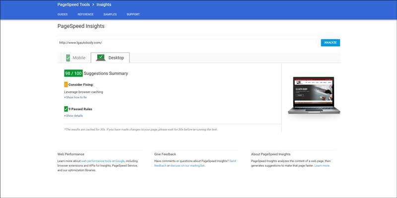 LG-Auto-Body-Pagespeed-Insights-Desktop