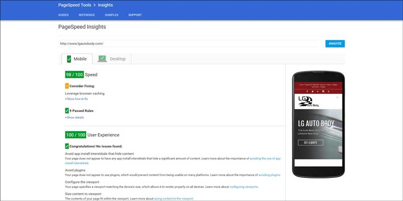 LG-Auto-Body-Pagespeed-Insights-Mobile