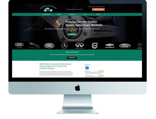 Body Shop Website Design Case Study for Performance Auto Collision
