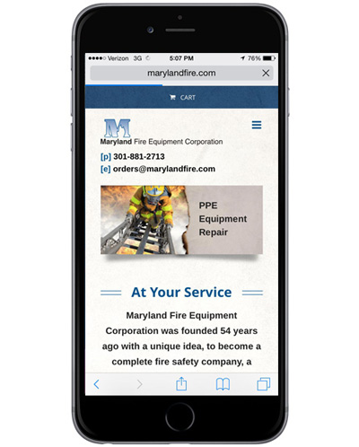 eCommerce-Website-Redesign-Maryland-Fire-Mobile-Responsive