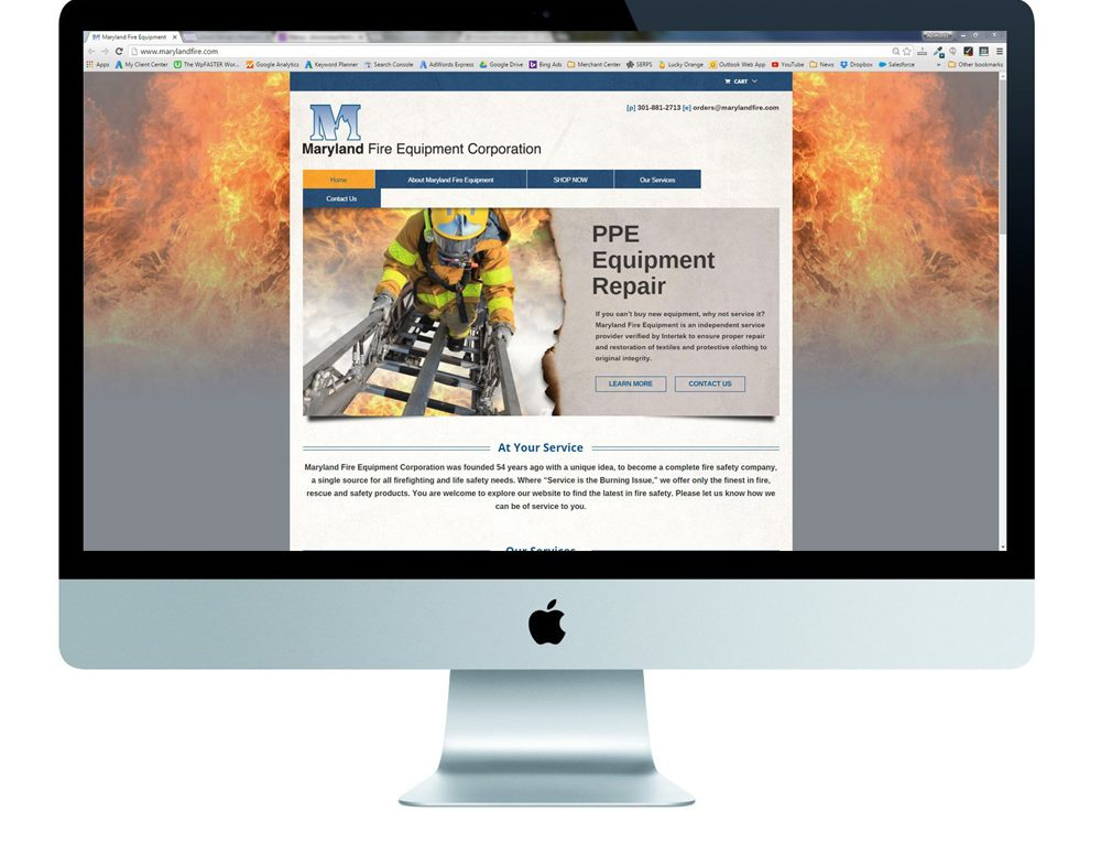 eCommerce Website Redesign Case Study for Maryland Fire